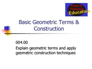 004.00 Geometric Construction