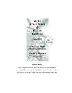 (1) Michael Main, Walter Savitch-Data Structures and Other Objects Using C++ (4th Edition)-Pearson (2010)