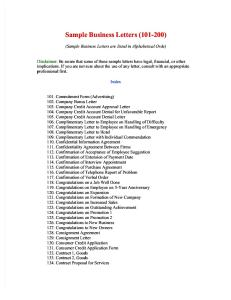 100 Business Letter Forms