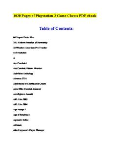 1020 Pages of Playstation 2 Game Cheats PDF eBook - PDF Free Download