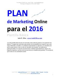 2016  Plan de Marketing Online de una EmpresaEjemploPlantilla (1)