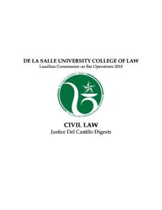 3 Civil Law Justice Del Castillo Digests
