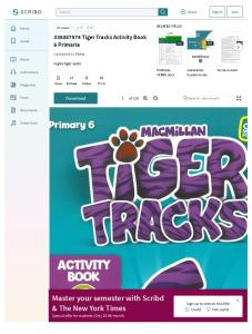 338387574 Tiger Tracks Activity Book 6 Primaria
