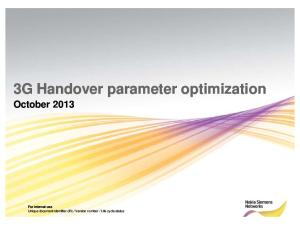 3G Handover Optimization