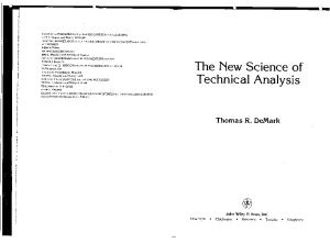 63065846 Demark the New Science of Technical Analysis