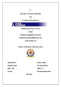 72754508 MBA PROJECT Reliance Energe Employee Engagement