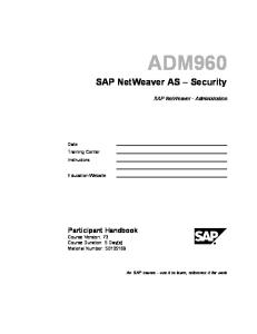 ADM960 - Security in SAP System Environment.pdf