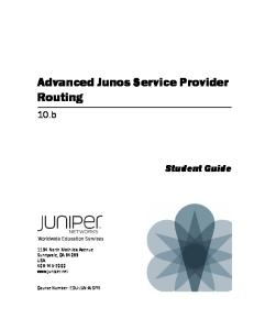 Advanced Junos Routing