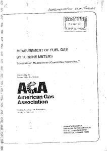AGA Report 7 Turbine Gas Meter
