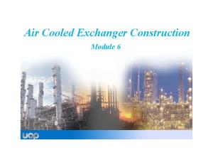 Air Cooler Exchanger Construction