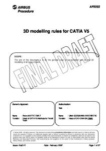 AIRBUS - 3D Modelling Rules for CATIA V5