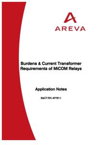 Alstom Current Transformer  Requirements