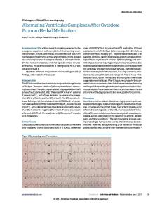 Alternating Ventricular Complexes After Overdose From an Herbal Medication