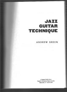 Andrew Green Jazz Guitar Technique