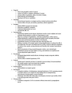 Anesthesia Notes