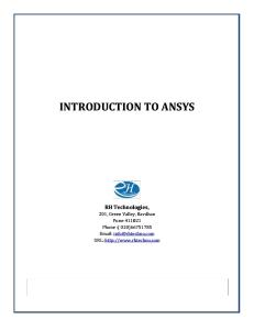 Ansys Training Manual