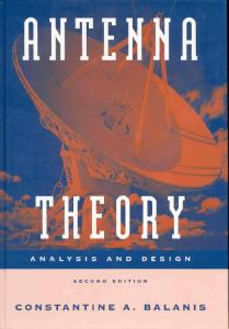 Antenna Theory - Analysis and Design, 2nd Edition contantine a balanis.pdf