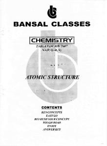 Bansal Classes  Chemistry Study Material for IIT JEE