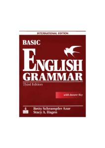 Basic English Grammar 3rd Edition- AZAR - HAGEN