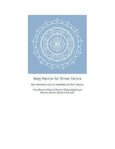 Beej Mantra for Shree Yantra