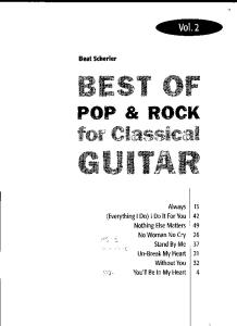 Best of Pop Rock for Classical Guitar Vol 2 Chitarra