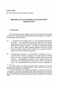 Book Chapter_Bronislaw Malinowski and Linguistic Pragmatics_2005