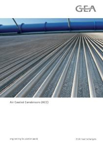 Brochure Air cooled condenser