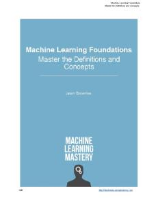 [Brownlee] Machine Learning Foundations