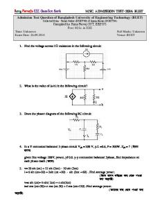 BUET MSC Admission Test (26.09.2014) Question by Rony Parvej