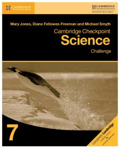 Cambridge Checkpoint Science Challenge Book 7