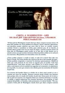 Carta de Toro Sentado a Washington