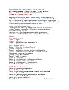 Casualty Investigation Code