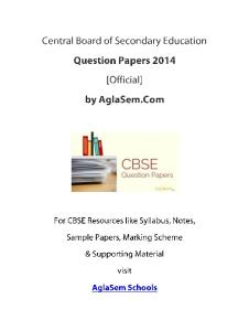 CBSE 2014 Question Paper for Class 12 Mathematics - Outside Delhi