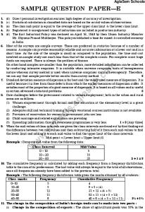 CBSE Sample Paper for Class 11 Economics Science - Set E