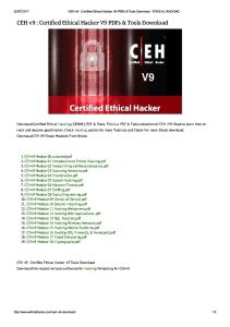 CEH v9 _ Certified Ethical Hacker V9 PDFs & Tools Download - ETHICAL HACKING