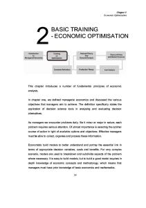 Chapter 2 in managerial economic