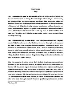 Chapter XII of the Punjab Settlement Manual