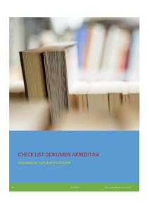 CHECK LIST  DOKUMEN AKREDITASI 2016.pdf