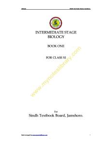 Class XI Biology Notes first year sindh board