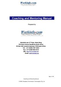 Coaching and Mentoring Guide