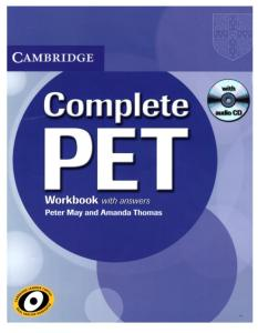 Complete PET WORKBOOK With Answers (2010)