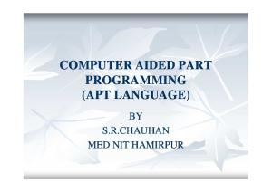 Computer aided part programming