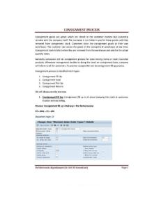 Consignment Process