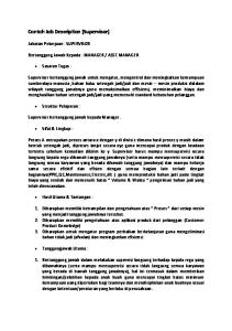 Contoh Job Description & Job Specification