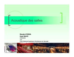 Correction Acoustique