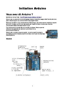 Cours Arduino