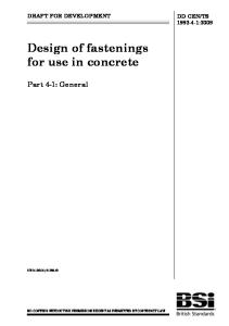 DD CEN-TS 1992-4-2009 Design of Fastenings for Use in Concrete