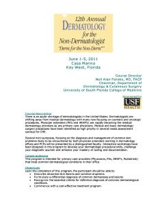 Dermatology for the NonDerm