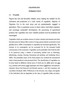 Design and Fabrication of Vegetable Slicing Machine Chapter 1-5