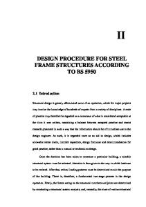 Design Procedure for Steel Frame Structures according to BS 5950 pdf